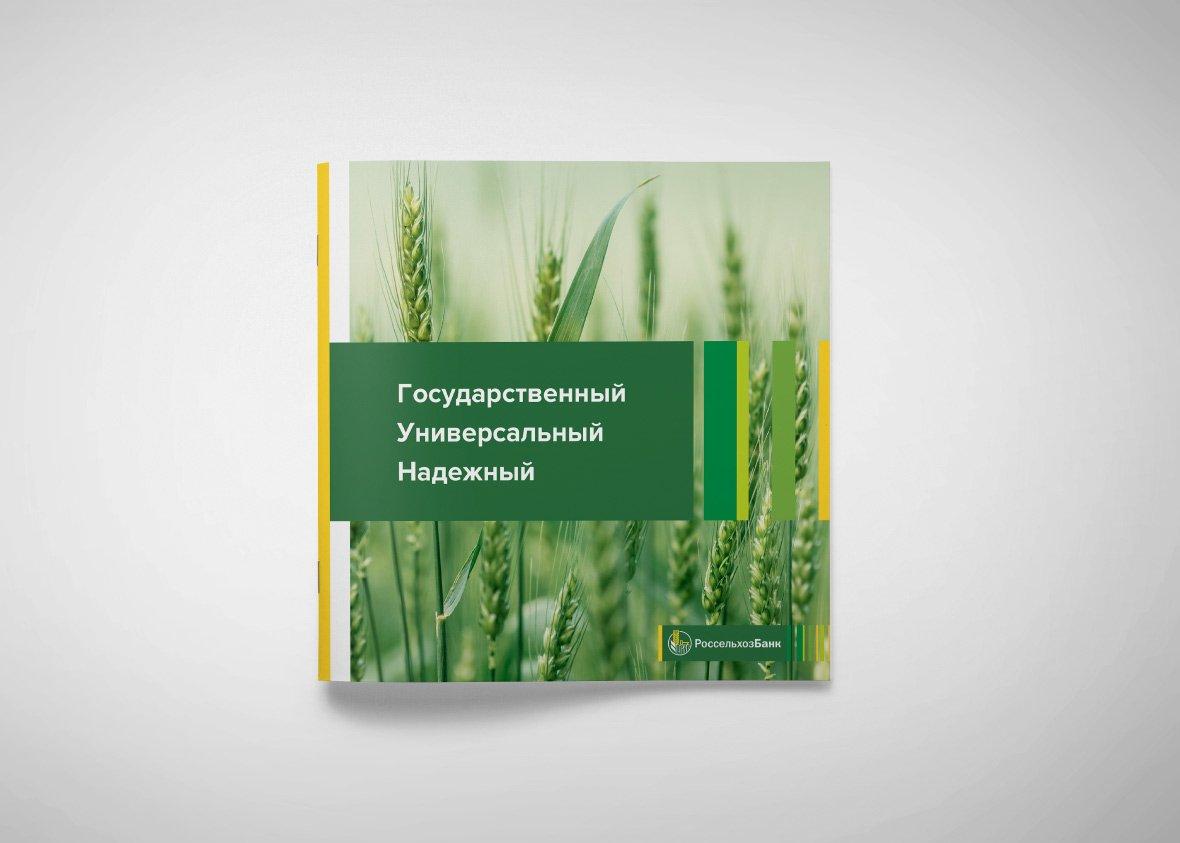 Концепция дизайна и верстки многостраничного буклета для Россельхозбанк